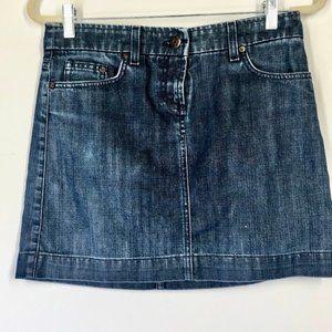 J. Crew Jean  Dark Wash Denim Mini Skirt Size 28